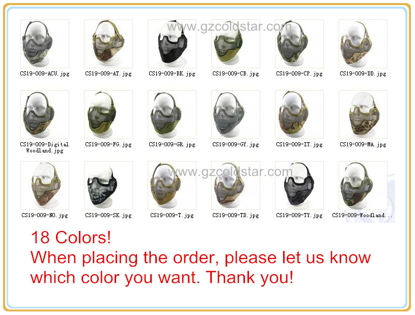 V2 Steel Net Mesh Fencing Mask High Quality Half Face Protective Tactical Mask Cover Face Ears Airsoft Military Cosplay