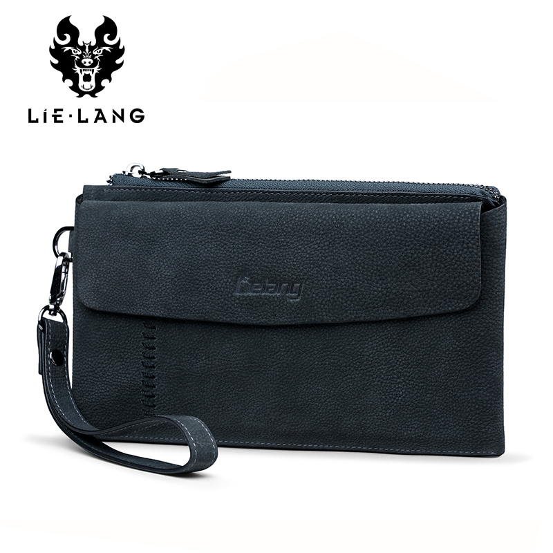 Men Wallet Luxury Long Clutch Bag Wristlet Organizer Wallets Male Moneybag Genuine Leather Coin Purse Large Men Purse Handy Bag цена 2017
