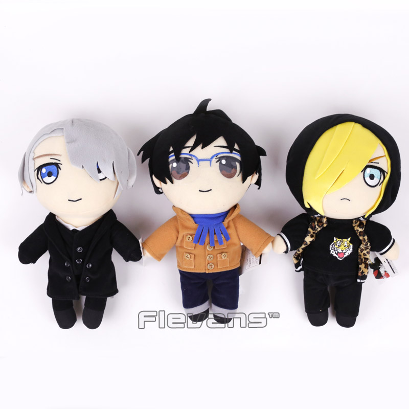 Anime Yuri on ice Katsuki Yuuri / Pulisetty / Victor Nikiforov Plush Toys Soft Stuffed Dolls 12inch 30cm цена
