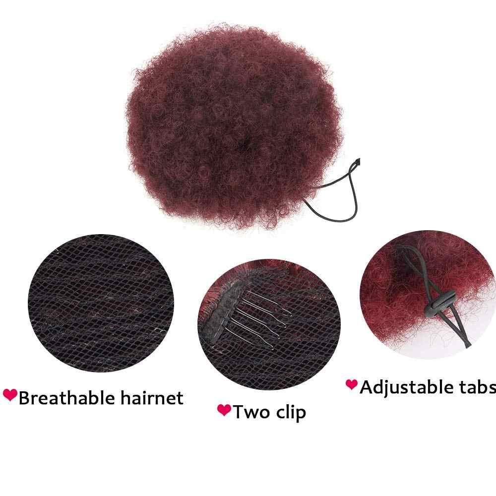 Синтетические волокна кудрявый шиньон пучок волос Эластичные поддельные классические средства наращивания волос для черный/белый женщин высокой температуры
