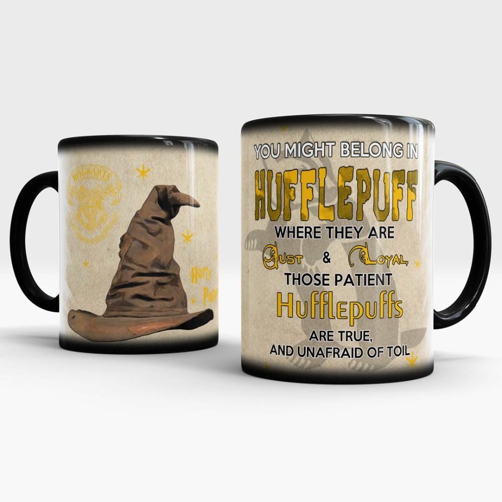 Color Hogwarts Changing Sorting Mugs Heat Hufflepuff Hat 8nvwmN0