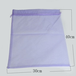 Image 3 - 50 unids/bolsa 30x40cm 35x50cm bolsas de Organza para ropa bolsas paraguas bolsa de embalaje para joyería con cordón