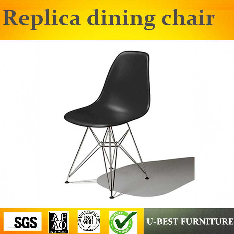 Free Shipping U-best  Molded Plastic Side Chair With Metal Legs Dining Chair,stacking Hotel Restaurant Dining Chair