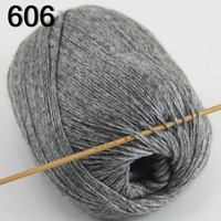 High Quality 100 Pure Cashmere Luxury Warm Soft Hand Knitting Yarn Dark Gray 233 06