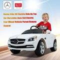 SLK Rastar Crianças 6 V Passeio Em Carro de Brinquedo Elétrico Elétrico de Quatro roda Do Veículo Entre Pais e filhos Passeio Em Carros de Controle Remoto Branco para Crianças