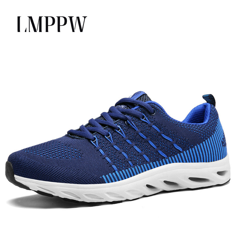 Summer Popular Men Fashion Casual Shoes Breathable Sneakers Comfortable Soft Mesh Zapatos Hombre Mens Flats