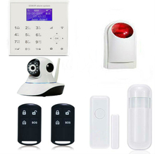 YobangSecurity Wifi GSM Wireless Home Burglar Security System With Video IP Camera Wireless Strobe Siren Android IOS APP