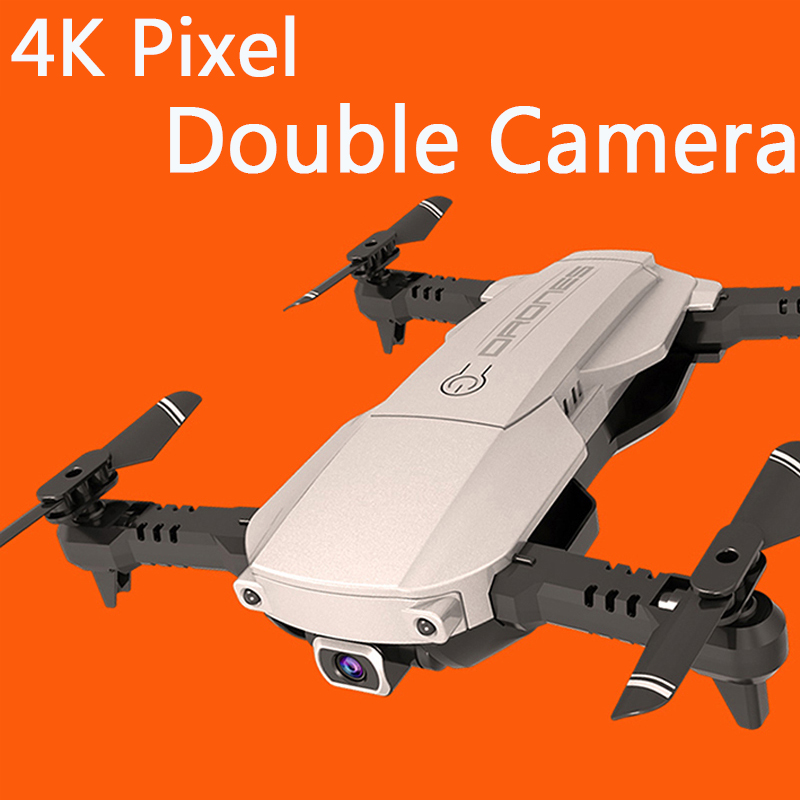 Mini Foldable WIFI FPV With Wide Angle 4K pixel HD double Camera Drone Hold Mode RC