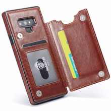 For Samsung Galaxy Note 9 8 S9 S8 Plus Case Pu Leather Wallet Magnetic Flip Cover Thin Slim Case For Galaxy S7 Edge S8  Case