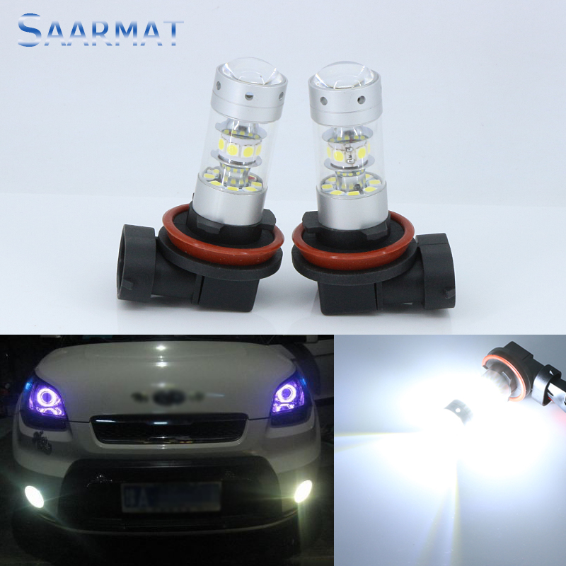 2 x H8 H11 Universal White 6000K Car Led Bulb  140W 14000LM High Power Bright Daytime Running Lights Fog Lamp