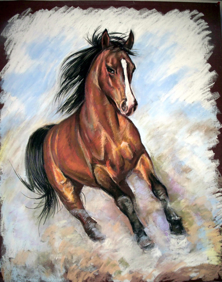 New Design High Quality Abstract Living Room Wall Artwork Horse Oil Painting On Canvas Modern Art Paintings In Calligraphy From