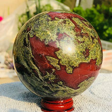 Natural The dragon blood stone Quartz Crystal Sphere ball Healing