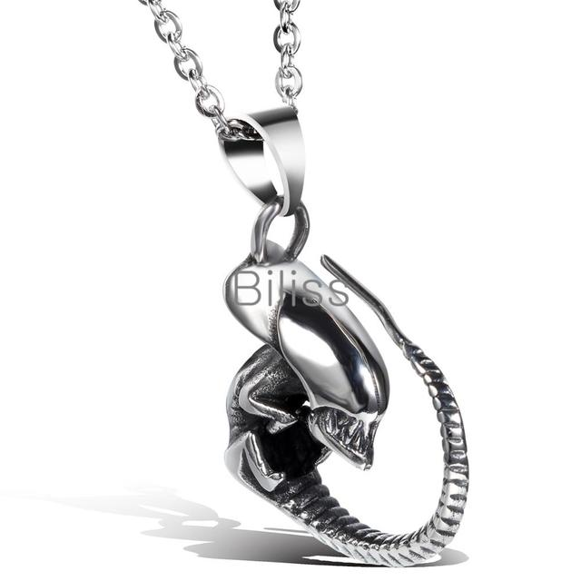Punk stainless steel alien dragon biker mens necklace pendant personalized biker mens fashion jewelry 2017 biliss in pendant necklaces from jewelry punk stainless steel alien dragon biker mens necklace pendant personalized biker mens fashion jewelry 2017  Images