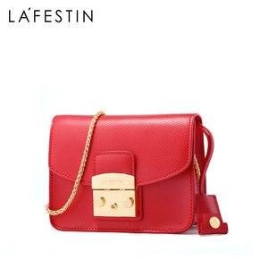Image 2 - LAFESTIN Famous Shoulder Bag Women Designer Real Leather Flap Crossbody Bag Luxury Totes Multifunction brands Bag bolsa
