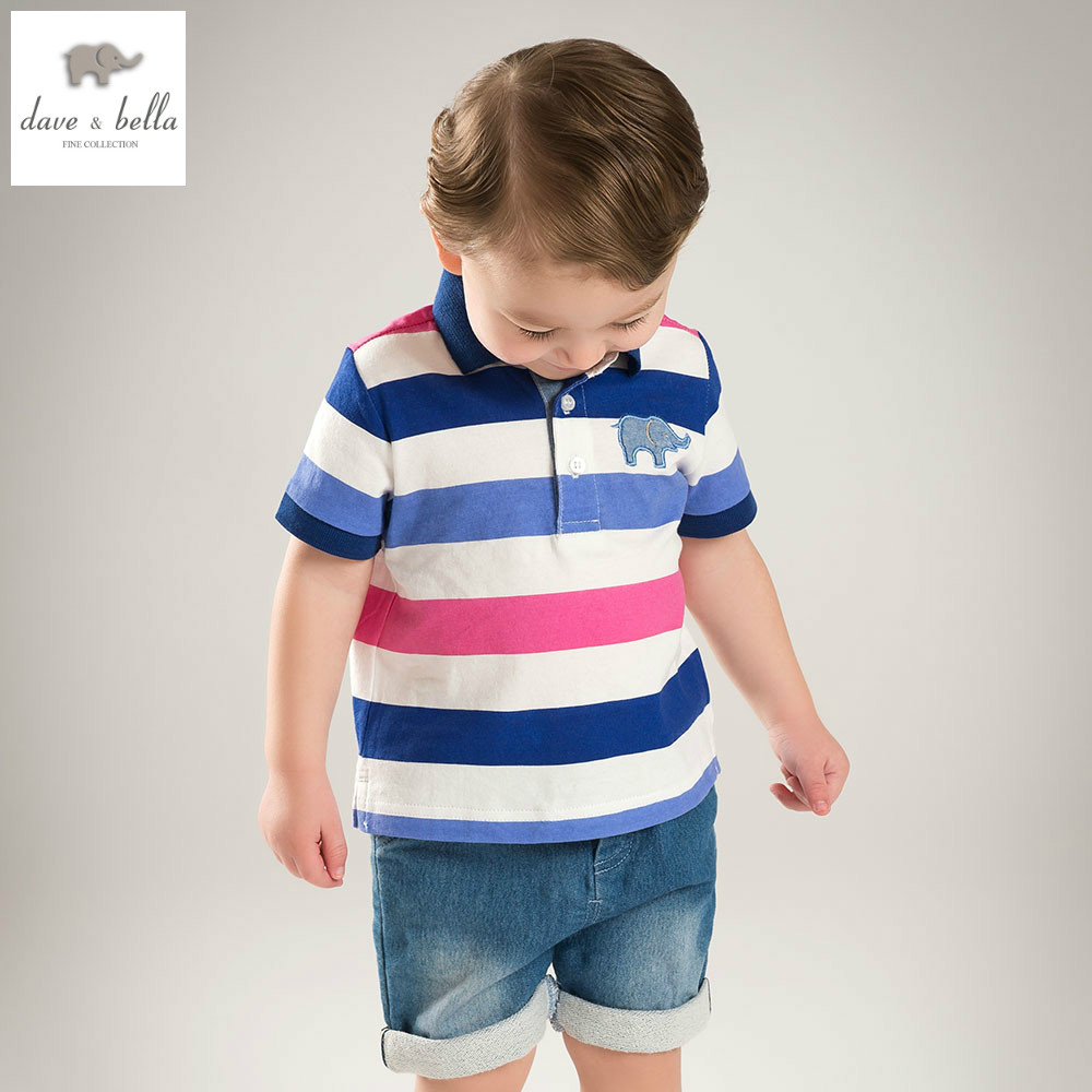 bbd70bad7 DB5870 dave bella summer baby boys polo shirts kids infant clothes children  toddle t shirt childs cotton shirt-in T-Shirts from Mother & Kids on ...
