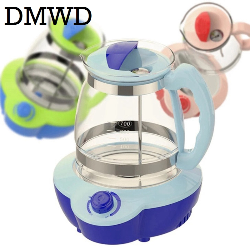 DMWD Baby Milk bottle Heater sterilizer Tea Coffee Warmer Thermal Insulation electric kettle seat Thermostat glass boiler cup EU dmwd electric kettle eggs slow cooker teapot multifunction porridge stew pot hot water boiler timing milk heater 1 8l 110v 220v
