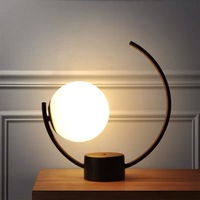 Nordic Glass Ball LED Table Lamp Bedroom Lamp Bedside Lamp Bed Light Living room light Art Deco maison Light Fixtures