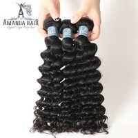 """Głęboka fala brazylijski włosów ludzkich wiązki włosów 10 """"-30"""" 100% dziewiczy brazylijski włosy wyplata wiązki naturalny kolor mogą być barwione"""