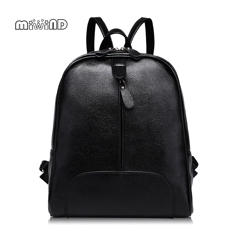 MIWIND 2017 New Leather Backpack Women High Quality Women Backpack Women Leather Backpacks for Teenage Girls