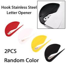 2 шт./компл. мини конверт ножовочное полотно канцелярский нож Бумага открытым резак для писем