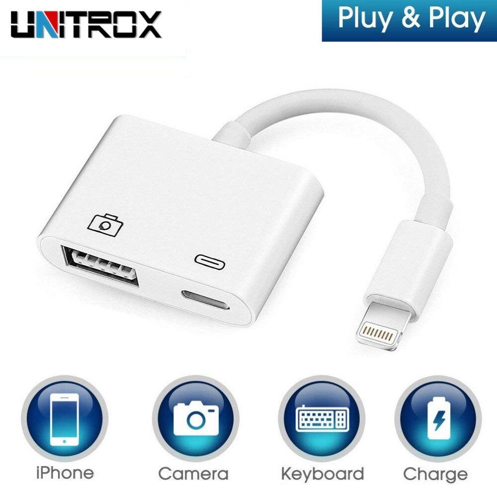 2018 nuevo para Lightning a USB 3 para cámaras lector adaptador OTG Kits de conexión de carga de sincronización de datos para iPhone X/ 8/7/7 Plus/6/6 S/iPad/iPod