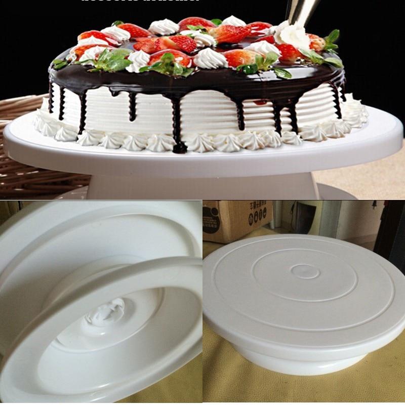 DIY Cake Decorating Tools Rotating Cake Stand Sugarcraft Turntable Decorating Stand Platform Cupcake Stand Cake Plate