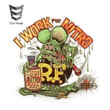 Earl family 13cm X 12.8cm Rat Fink pracy dla Nitro naklejka śmieszne winyl do stylizacji samochodu graficzny wystrój na okno zderzak bagażnika samochodu naklejki