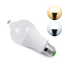 220V 5W 7W 9W 12W 18W PIR luce del Sensore di Movimento E27 Rivelatore di Movimento LED lampadina della lampada della Scala Corridoio Pathway Del Corridoio di illuminazione di Notte