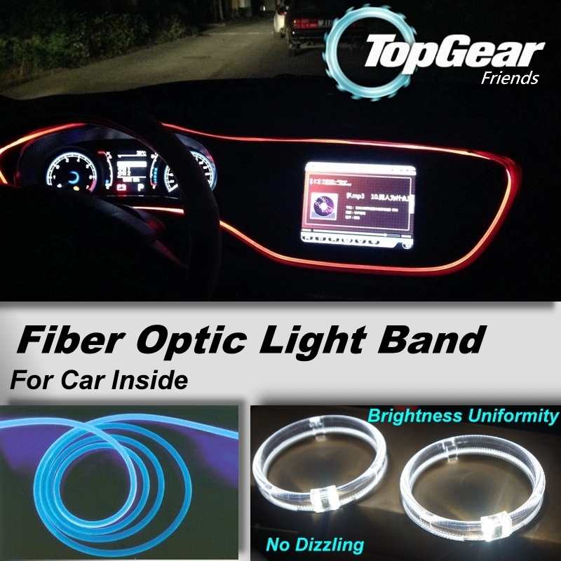 buy led fiber optic light band atmosphere lamp for auto car interior refit. Black Bedroom Furniture Sets. Home Design Ideas