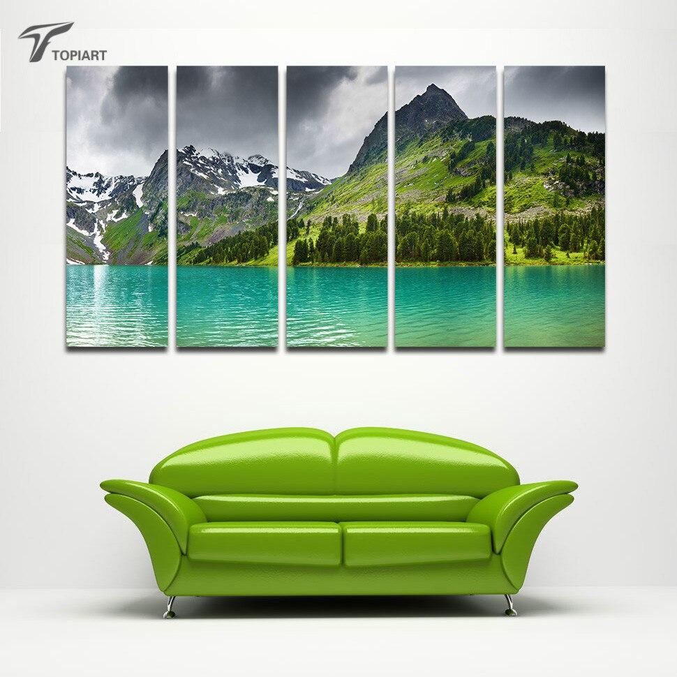 5 Panel Wall Art popular framed 5 panel wall art nature-buy cheap framed 5 panel