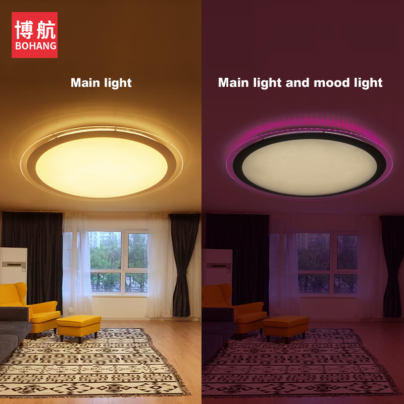 Modern Led Ceiling Light 25w Smart Remote Control Rgb Dimmable Color Changing Lamp For Livingroom Bedroom Ac165-265v Ceiling Lights