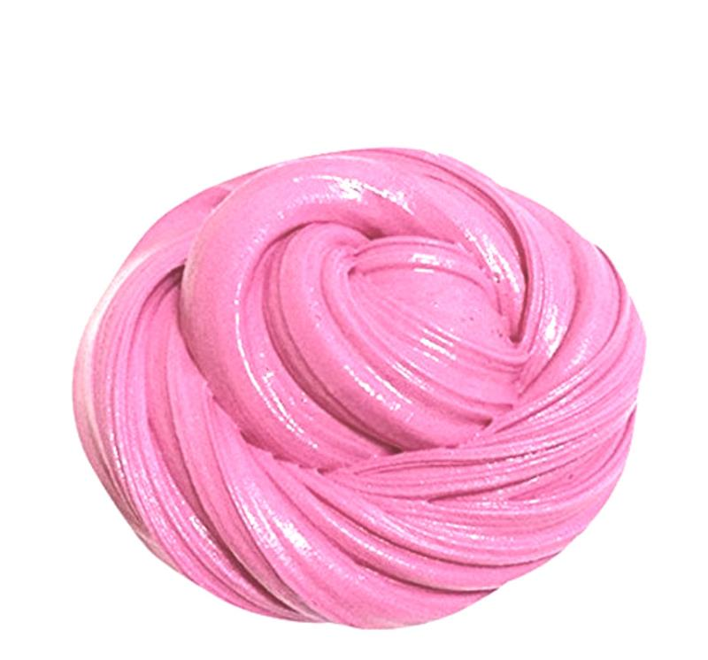 Free Slime Toy Baby Fluffy Floam Slime Putty Scented Stress Relief Snow Mud Kids Adults Hot Pink DIY Super Soft Anti-Stress Toy