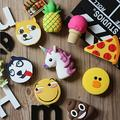100pcs Funny Cute Emoji pineapple Pizza Power Bank Battery Charger Powerbank Case usb output for all phones pad andriod phones