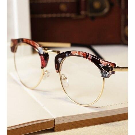 8c12651d802 New Vintage Women Metal Arrow Semi Rimless Frames Glasses Men Round  Eyeglasses Optical Eyewear