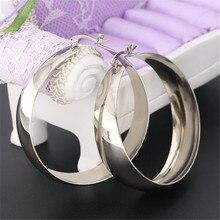 Модные золотые серебряные высококачественные большие широкие серьги-гвоздики для женщин и мужчин, серьги-гвоздики из нержавеющей стали, модные ювелирные подарки
