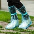 Sapatos de Chuva reutilizáveis capa Mulheres/homens/crianças dos miúdos engrossar Botas De Chuva Ciclo Galochas Planas Slip-resistente à prova d' água