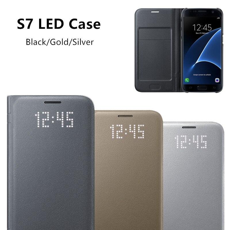 bilder für Original-LED Anzeigen Smart Cover Telefonkasten EF-NG930 für Samsung Galaxy S7/S7 rand Mit Sleep-funktion