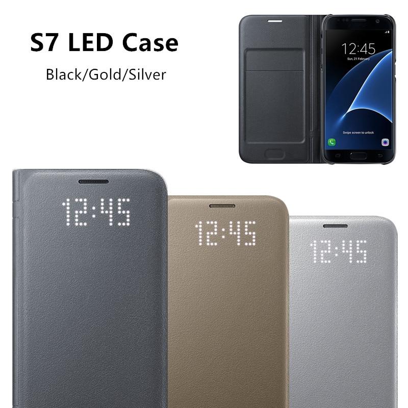 imágenes para Original LED EF-NG930 Caja Del Teléfono S-view Smart Cover para Samsung Galaxy S7/S7 borde Con la Función Del Sueño