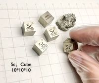 Scandium Metal 10mm Density Cube 99.9% Pure for Element Collection