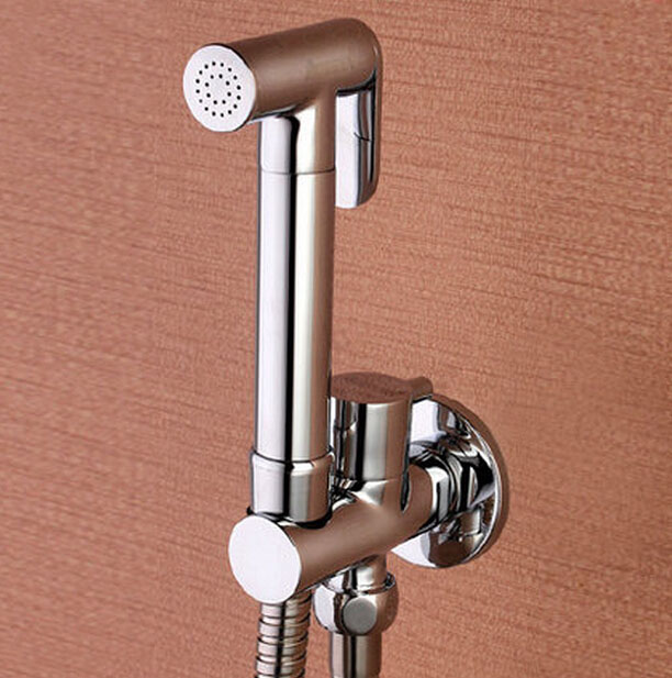 Free Shipping Toilet Brass Hand Held Bidet Spray Shower Head Douche Kit Shatta Copper Valve Bathroom Bidet sprayer Jet Tap bd221