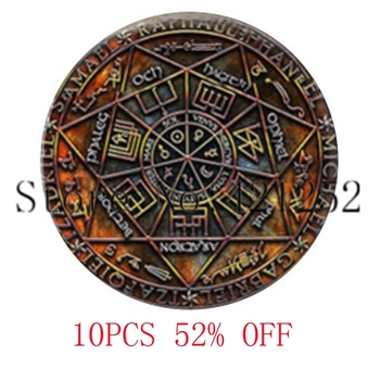 Уплотнение семи архангелов и олимпийских духов стеклянный кабошон с фото ожерелье брелок Закладка Запонки Серьги