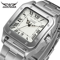 JARAGAR Men Luxury Brand Watch Skeleton Watches Tourbillion Automatic Mechanical Leather Wristwatches Gift Box Relogio Releges