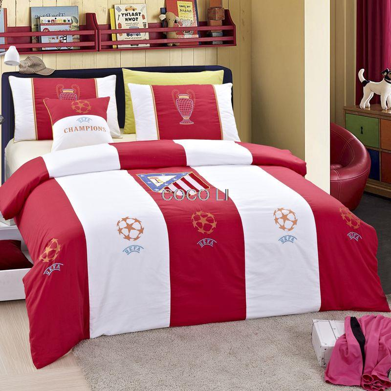 Wholesale Hot Sale  football Bedding Sets Bed In A Bag with Duvet Cover  Flat Sheet and Pillow Case for Queen Twin size Bed. Online Get Cheap Football Bed Set  Aliexpress com   Alibaba Group