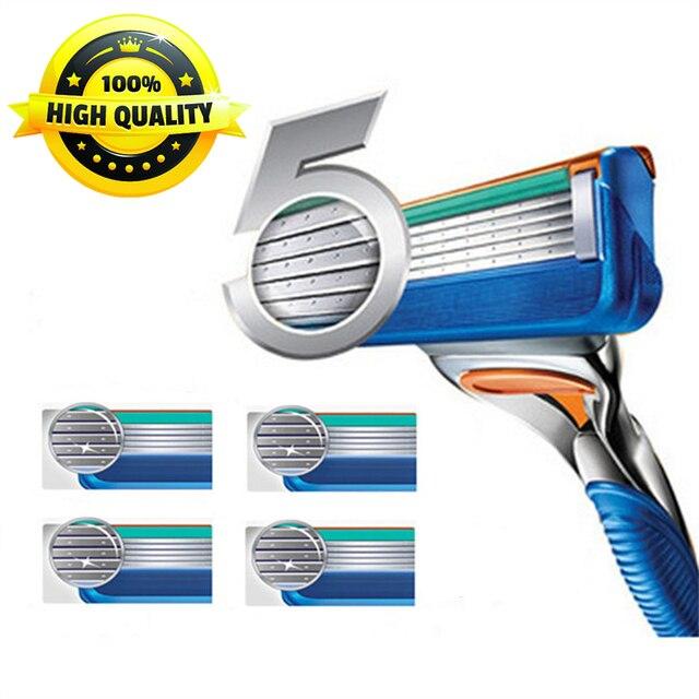 4 ピース/パック高品質 5 層刃かみそりの刃フェイスケアカセットシェービングと互換性 Gillettee Fusione
