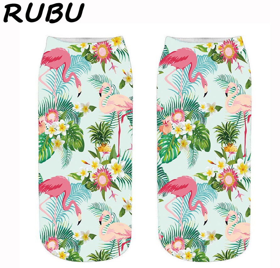 RUBU Hot Sale Printing Women Men <font><b>Unisex</b></font> Straight <font><b>socks</b></font> Women Low Ankle Short <font><b>Socks</b></font> Women Kawaii <font><b>Animal</b></font> <font><b>Socks</b></font> VB168 image