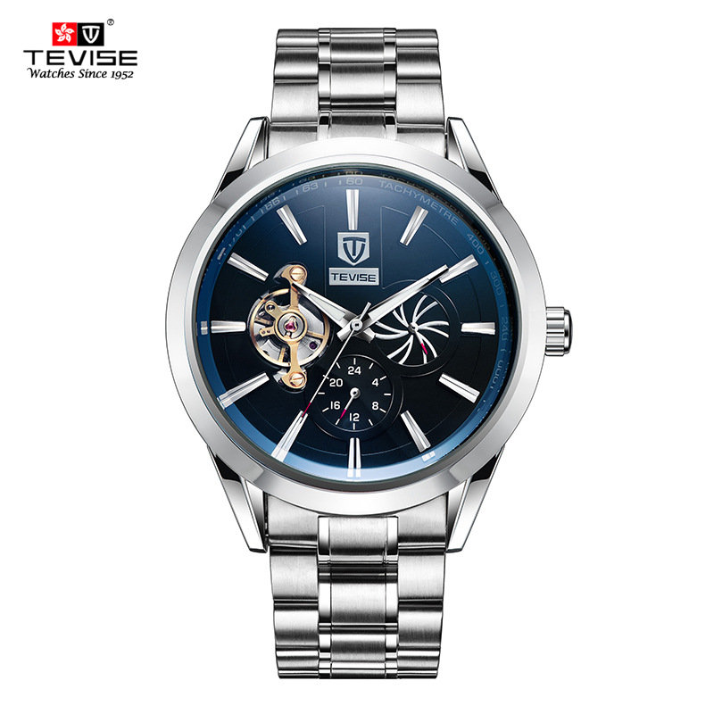 цена на NEW Brand strap watch men luxury Automatic Self-Wind Mechanical Wristwatches with Waterproof Calendar male watches 903C-903D