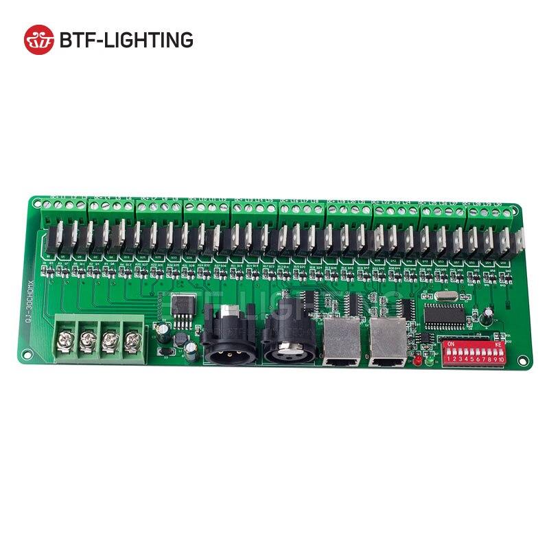 30 canal DMX 512 rgb LED bande contrôleur dmx décodeur pilote gradateur DC9V-24V - 5