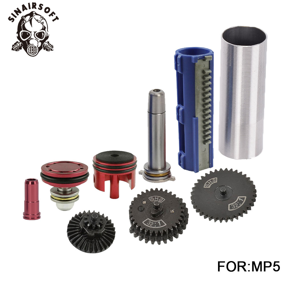SHS-32-1-Gear-Nozzle-Cylinder-Spring-Guide-14-Teeth-Piston-Kit-Fit-Airsoft-AK-MP5 (4)