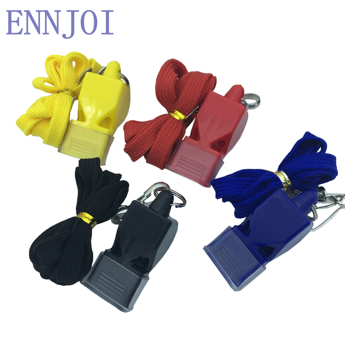 Delicate Plastic Whistle For Sports Portable Tasteless Classic Referee Super Loud Traffic Patrol Whistle