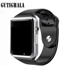 A1 Smartwatch Relógio Inteligente Com Câmera Passometer Chamada Do Cartão SIM Para Xiaomi Huawei HTC Telefone Android Melhor Do Que GT08 DZ09
